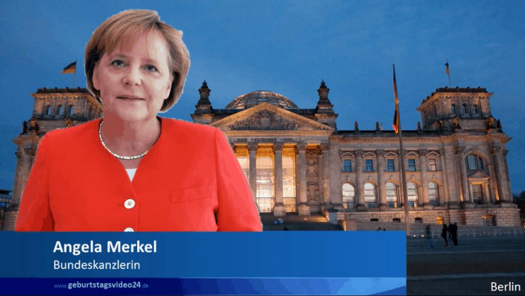 Angela Merkel gratuliert zum Geburtstag